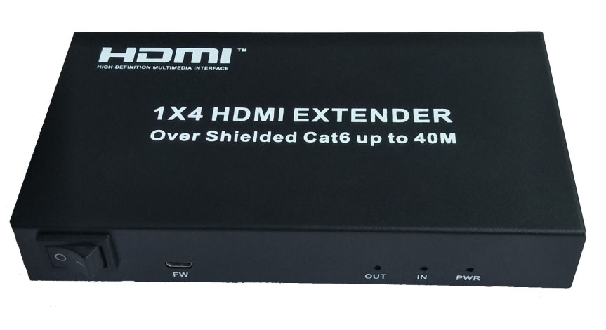 HDMI Extender 1x4 over UTP cable 40m